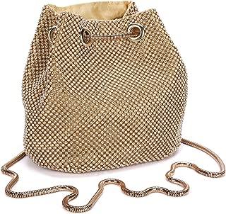 Women's Clutch Bag Vintage Rhinestone Wedding Purse Bucket Small Handbag Party Prom Evening Clutch