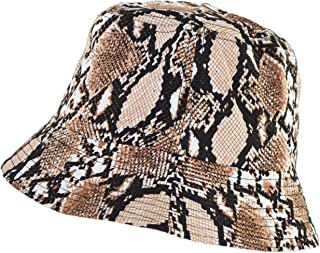 Rising Phoenix Industries Vegan Animal Print Snakeskin Rain Hat, Water Resistant Snake Skin Bucket Hat