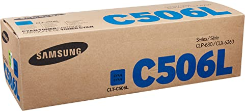 Samsung CLT-C506L Toner Cartridge Cyan, High Yield for CLP-680ND, 6250FD, 6260FR