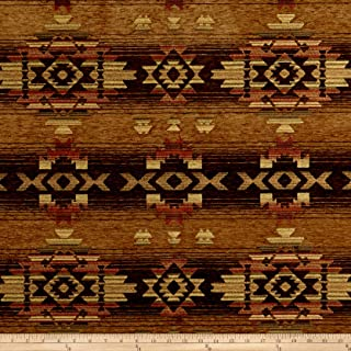 J. Allen Fabrics Southwest Chenille Fabric, Navajo Desert, Fabric By The Yard