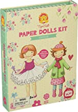 Tiger Tribe Paper Dolls Kit, Vintage Arts and Crafts, White