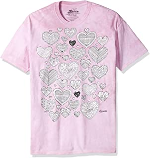 75ccdf70 The Mountain Men's Colorwear Hearts Adult Coloring T-Shirt