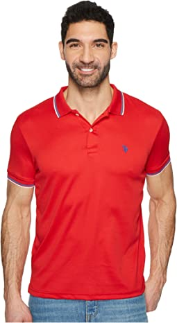 Short Sleeve Slim Fit Solid Poly Polo Shirt