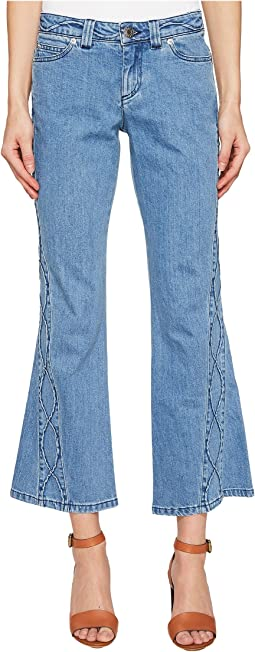 Denim Pants w/ Embroidery