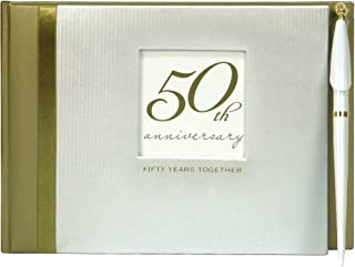 C.R. Gibson 50th Anniversary Party Guest Book with Pen, 7'' x 9.75''