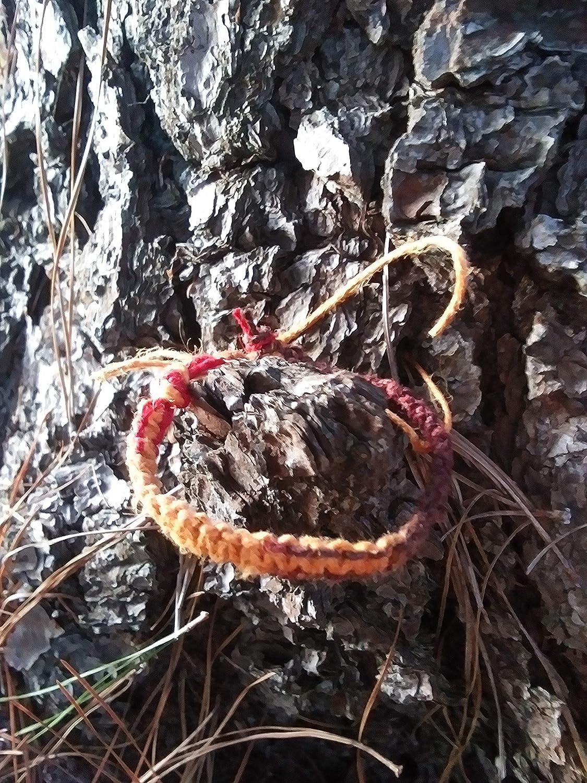 BEACH HEMP Large Special Campaign special price JEWELRY Red Orange Adjustable Handmade Bracelet Hemp