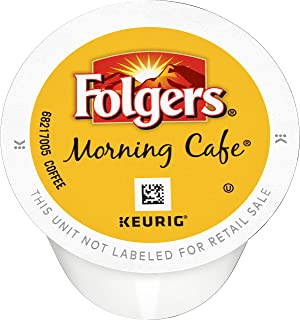 Folgers K Cups Morning Cafe Coffee for Keurig Makers, Mild Roast, 144 Count