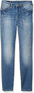 A|X Armani Exchange Women's Ankle Length Skinny 5 Pocket Slub Denim