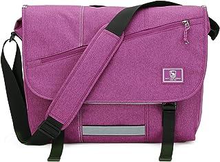 OIWAS Umhängetasche Damen Groß Violett Arbeitstasche Umhängetaschen Herren Tasche Kuriertasche Laptoptasche für 15 Zoll La...