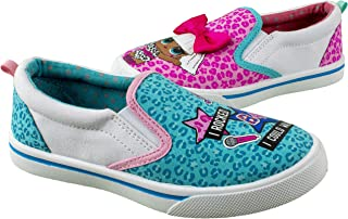 L.O.L. Surprise! Girls Tennis Shoe,Slip On Sneaker,Low Top Fashion Tennis Shoe,Changes Color in UV Sunlight,Girls Size 10 to 2