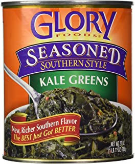 Glory Foods, Seasoned, Kale Greens, 27oz Can (Pack of 4)