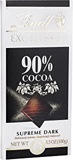 Lindt Excellence Supreme Dark Chocolate 90% Cocoa, 3.5-Ounce Packages