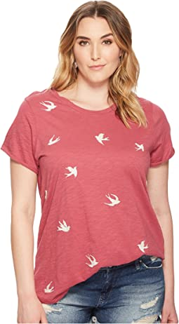 Lucky Brand - Plus Size All Over Bird Tee