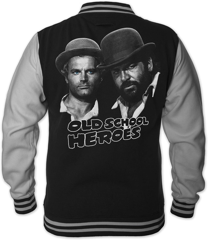 Bud Spencer Herren Old School Heroes College Jacket (schwarz)