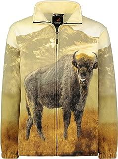 Men's Women's Sweater Jacket Full Zip Fleece Animal Wildlife Sweatshirt Wildkind