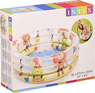 Intex 57106NP - Piscina hinchable colores con base hinchable