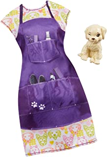 Barbie Clothes -- Career Outfit Doll, Pet Groomer with Puppy