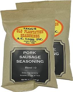 A.C. Legg Blend 10 Pork Sausage Seasoning, 2 Packs - 8 Ounce each