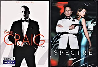 Spectre, Skyfall, Casino Royale DVD & Quantum of Solace James Bond Set Pack 007 Daniel Craig Collection 007 Set