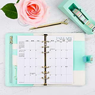 2020 and remainder 2019 Monthly Dated Planner Inserts | Refill Pages For Personal Size Planners | Sunday Start | 3.75x6.75 | Size 2
