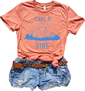 74f8b0ce0 Take A Hike Shirt Women, Cute Graphic Tees for Women, Hippie Clothes for  Women