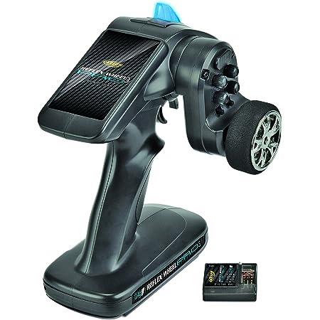 Carson 500500052 FS 2K Reflex Wheel Pro 3 2.4G-Accessoires de véhicule, Compatible pour Kits, modélisme, y Compris récepteur, RC, 2 télécommande 4 GHz, Noir
