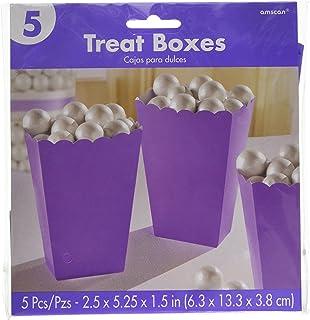 Amscan Party Centre New Purple Paper Popcorn Boxes 5 Pieces