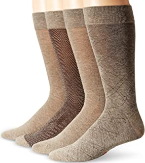 Men's 4 Pack Herringbone Dress Socks