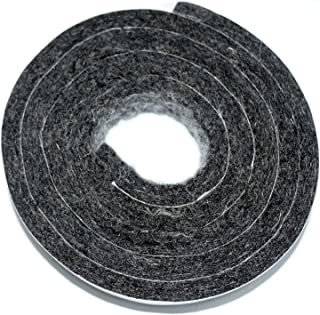 Woolous self adhesive heavy duty wool felt strip roll for hard surface and furniture, dark grey, 1.57''x40''