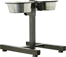 Pets Empire Adjustable Steel Stand with 2 pieces Bowl for Dogs (Small)