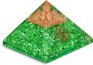 PREK Green Orgone Crystal Point Pyramid Onyx Gemstone, & Size:2.5-3 Inch