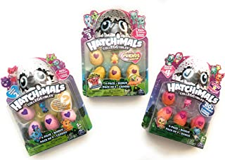 Hatchimal Colleggtibles 4 Pack Collectors Edition with Golden, Hatch Bright, & Hatch Twins!