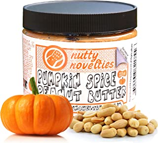 Nutty Novelties Fall Special Pumpkin Spice Peanut Butter - High Protein, Low Sugar Healthy Peanut Butter - Cholesterol-Free, All-Natural Peanut Butter - Creamy Peanut Butter - 15 Ounces