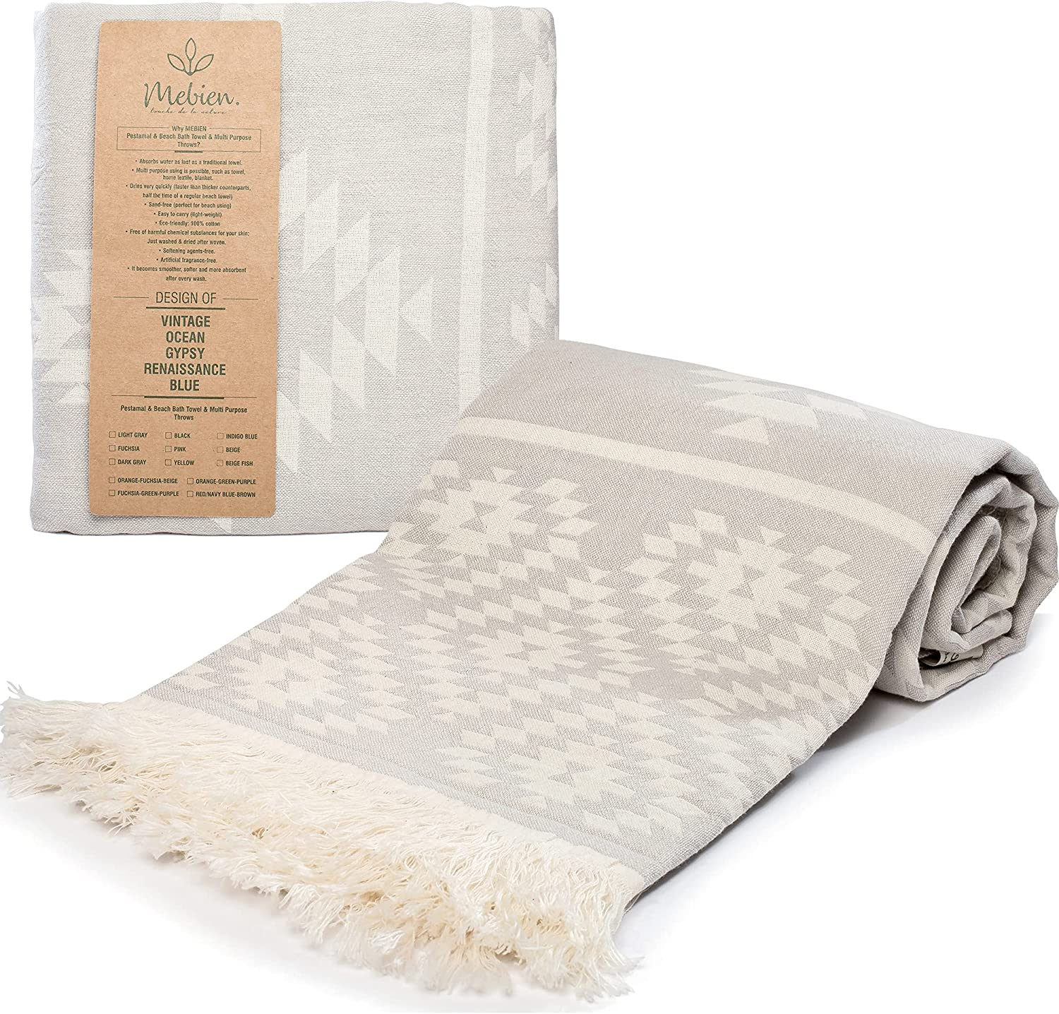 Turkish Towels for Adults Quick Dry and Sand Free Beach Towel