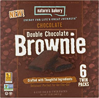Nature's Bakery Double Chocolate Brownie Twin Packs - 6 Count 2oz (Pack of 2)