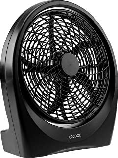 O2COOL Fan 10 inch Battery or Electric Operated Indoor/Outdoor Portable Fan with ac adapter, Tilts 90 Degrees