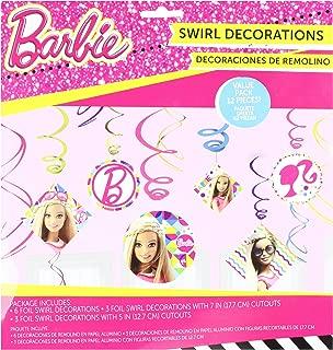 Foil Swirl Decorations | Barbie Sparkle Collection | Party Accessory
