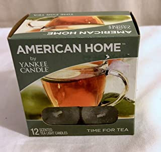 New 12pc box Time For Tea Scent American Home By Yankee Candle Scented Tea light Tealight Candles