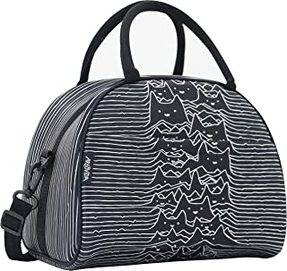 ARTOVIDA Uptown Collection   Premium Extra Large Neoprene Lunch Bag Purse with Shoulder Strap & Pockets   Reusable Insulated for Women, Work & School   Tobe Fonseca from Indonesia - Furr Division Cats