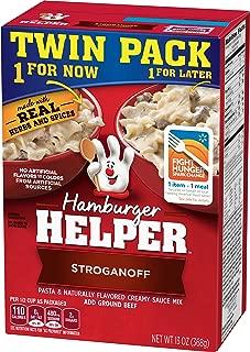 Betty Crocker Dry Meals Hamburger Helper Stroganoff Pasta and Creamy Sauce Mix, 13 Ounce