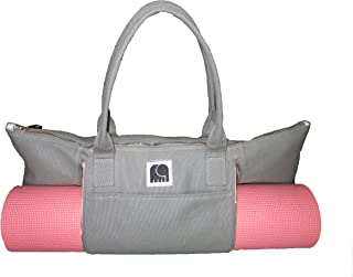 Yoga Mat Bag by Mantra Yoga | Gym Tote Bag for Yoga | Large Yoga Tote Bag - Canvas | Mantra: Happiness for The Soul
