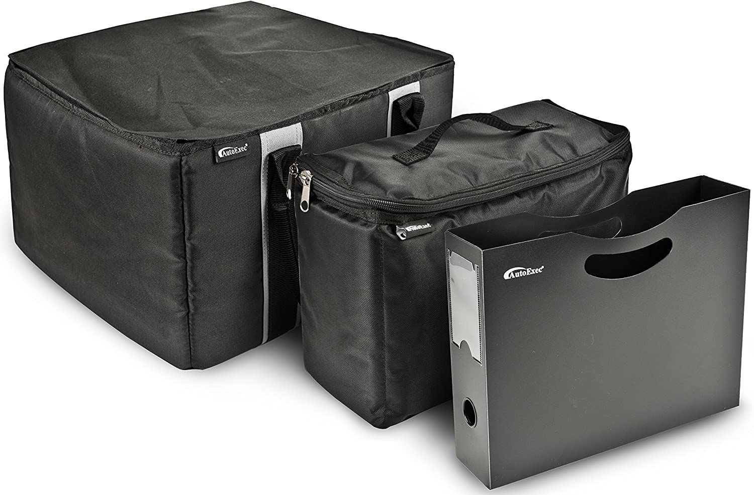 Max 63% OFF AutoExec AUE14008 File Tote Organizer with Cooler online shopping Black and Bag