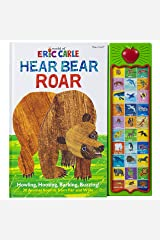 World of Eric Carle, Hear Bear Roar 30-Button Animal Sound Book - Great for First Words - PI Kids Hardcover