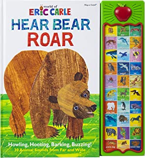 World of Eric Carle, Hear Bear Roar 30-Button Animal Sound Book - Great for First Words - PI Kids