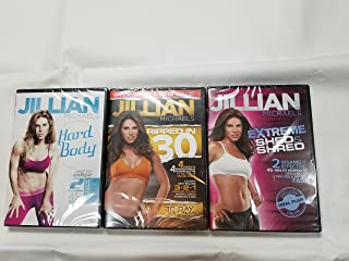 Fit For Life LLC DVD 3 Pack Jillian Michaels Extreme Shed and Shred, Ripped in 30, Hard Body