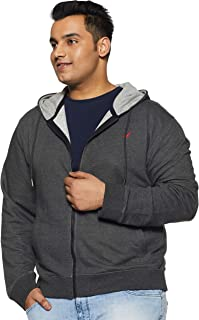 AMERICAN CREW Hoodie Zipper Winter Jacket for Plus Size Men