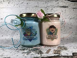 Grazie Maestra ** 2 vasetti con candele di cera di soia e oli essenziali - Regalo per la Maestra Fine anno scolastico Rito...