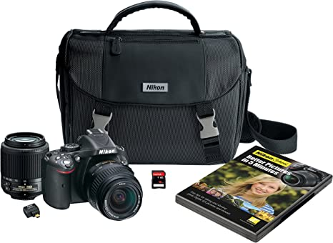Amazon Canada Nikon D5200 Digital Slr With 18 55mm 55 200mm Non Vr Lenses Black Discontinued By Manufacturer