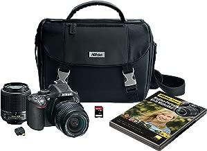 Nikon D5200 Digital SLR with 18-55mm & 55-200mm Non-VR Lenses (Black) (Discontinued by Manufacturer)