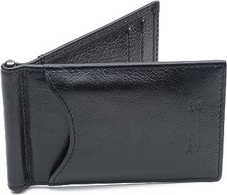 Premium Men's Full Grain Leather Money Clip Wallet with RFID Blocker – Slim Bifold Credit Card Holder